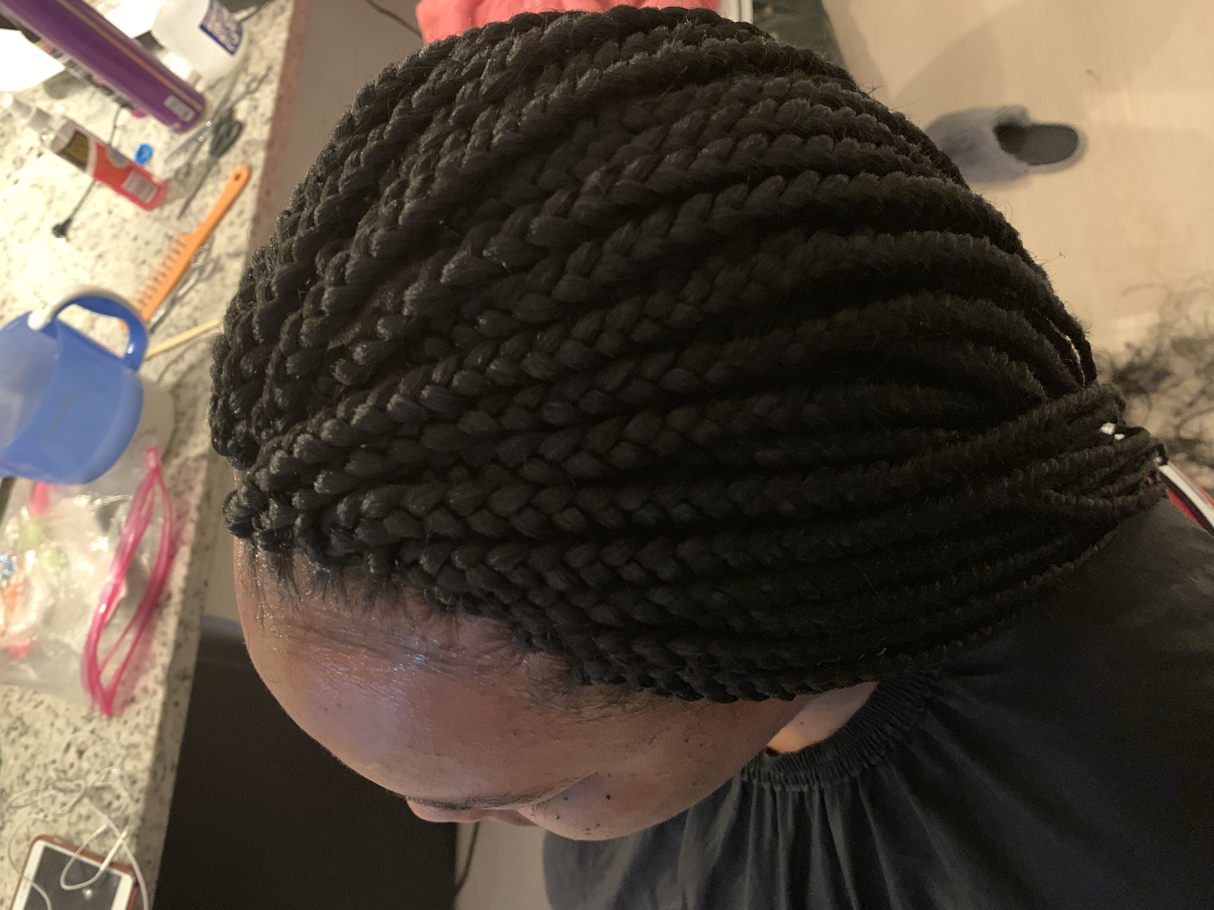 Box braids completed in Wheaton, MD