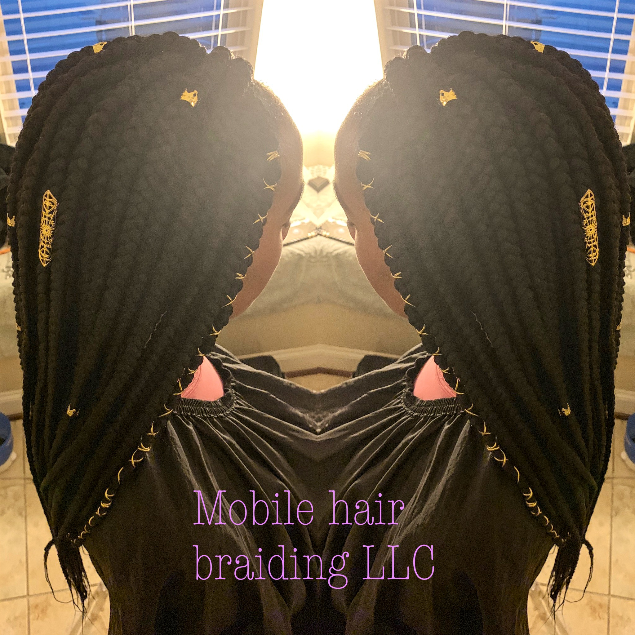 Large Jumbo Box Braids completed in Washington, DC
